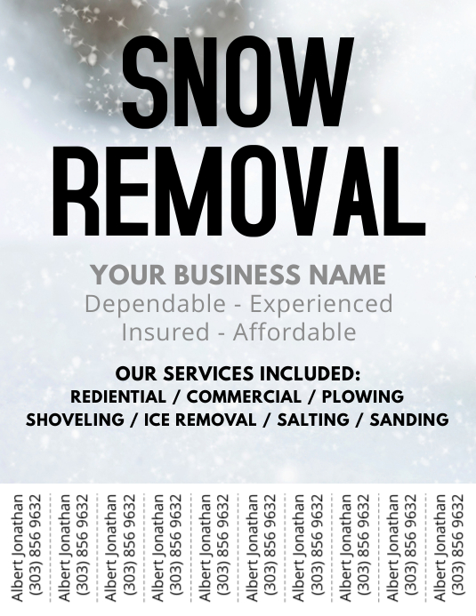 Snow Removal Flyer