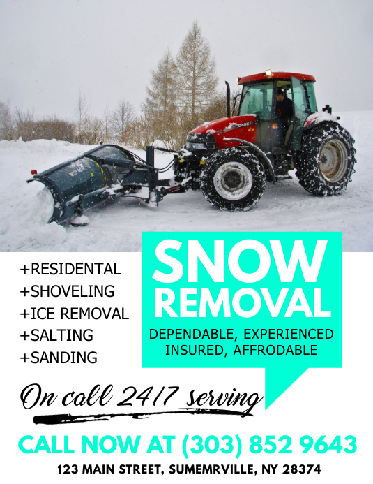 Snow Removal Flyer Template Postermywall