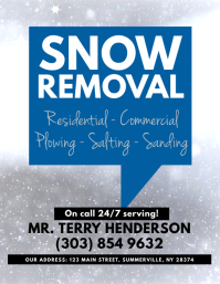 250 Snow Removal Customizable Design Templates Postermywall