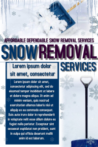 snow removal flyer winter sale poster similar design templates