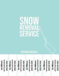 Snow removal service 1 flyer color