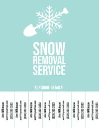 Snow Removal Service 2 flyer color