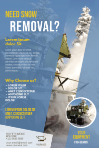 Snow removal service flyer design template