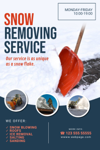 Snow Removing Service Flyer Template Poster