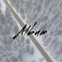 Snow Road Drone album cover video template
