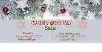 Snow Sale Couverture d'événement Facebook template
