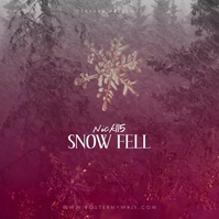 Snow Snowflake Instagram Video CD Cover Vierkant (1:1) template