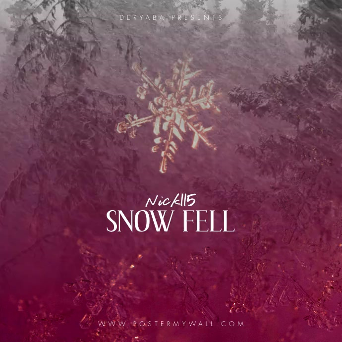 Snow Snowflake Instagram Video CD Cover Square (1:1) template
