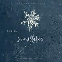 Snow Snowflake The Mixtape CD Music Cover 专辑封面 template
