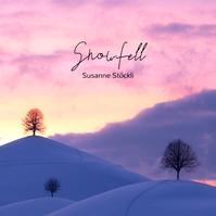 Snow Winter Sunset Minimal CD Cover Template 专辑封面