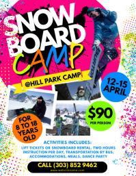 Snowboard Camp Flyer