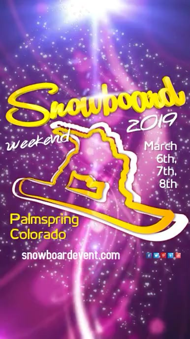 Snowboard Event Template Postermywall