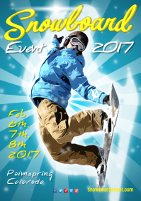 Snowboard Event Poster