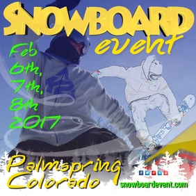 Snowboard Event Video Template