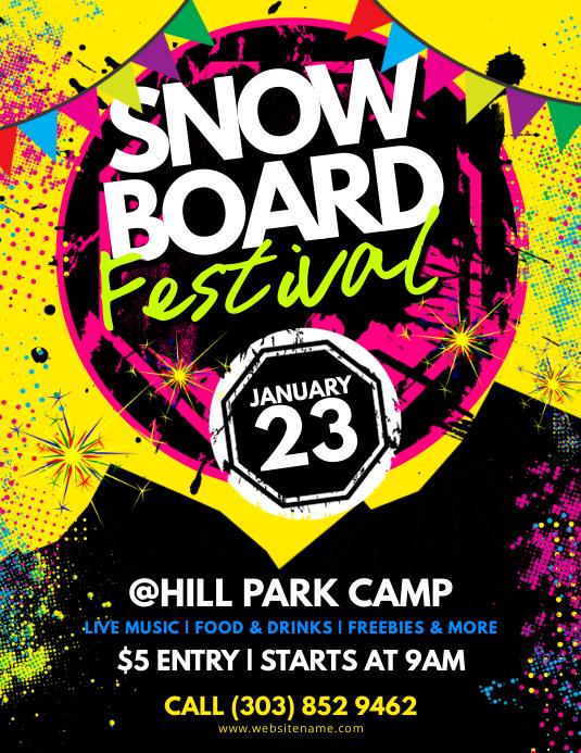 Snowboard Festival Flyer