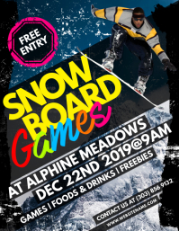 Snowboard Games Flyer