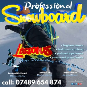 Snowboard Instructor Video Template