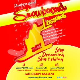 Snowboard Lessons Leaflet
