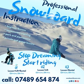 Snowboard Lessons Video Template