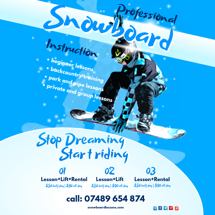 Snowboard School Flyer