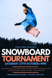 Snowboard Tournament Poster