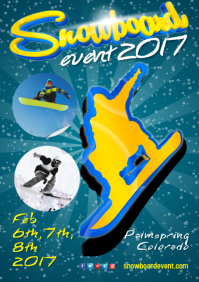 Snowboarding Event Flyer