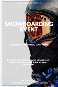 Snowboarding event flyer template