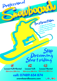 Snowboarding Lessons Flyer