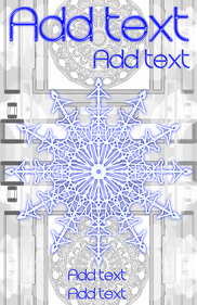 snowflake blue and very white winter template
