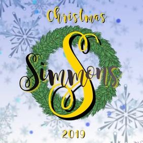 Snowflake Monogram Christmas Wreath Instagram