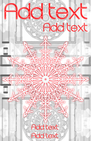 snowflake red and very white winter template