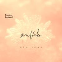 Snowflake Snow Sunny CD Cover Music Okładka albumu template