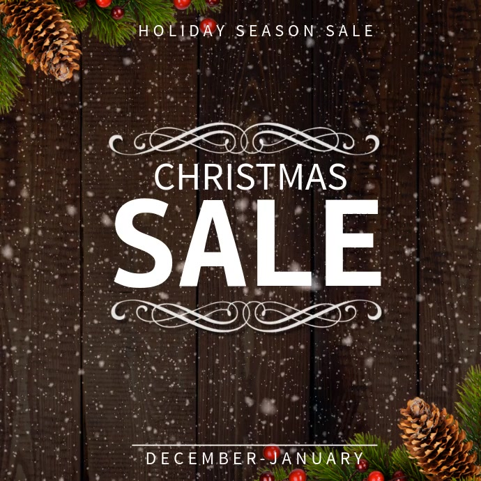 Snowing Christmas Sale Instagram Video template