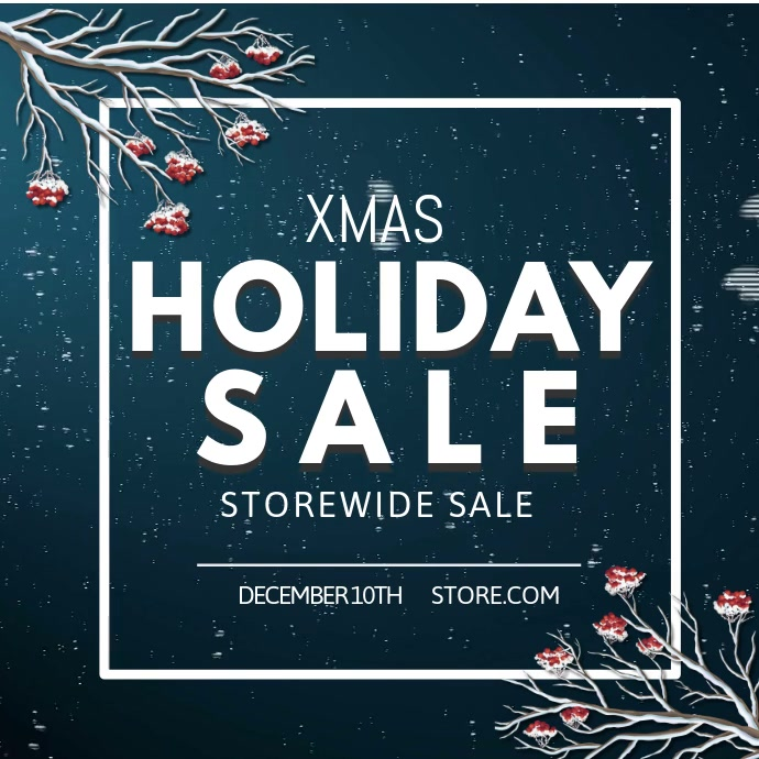 Snowing Christmas Sale Video template