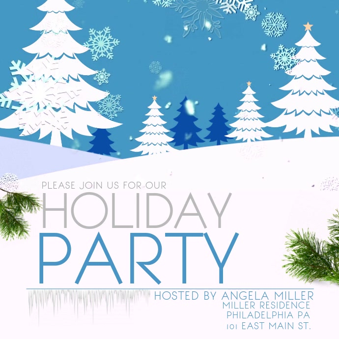 Snowing Holiday Party Video Template