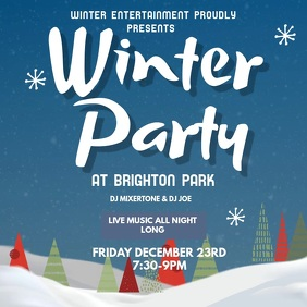 Snowing Winter Party Video Template