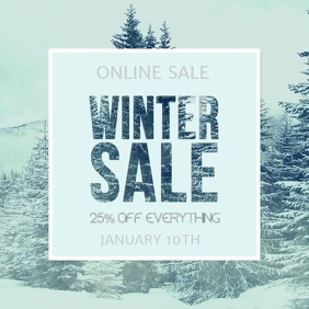 Snowing Winter Sale Video Template