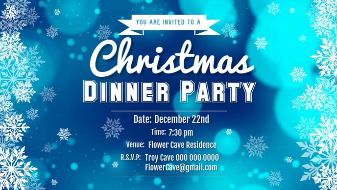 Snowy Christmas Dinner Facebook Cover Video