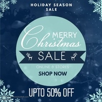 Snowy Christmas Sale Video Template