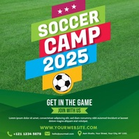 Soccer Camp Ad Сообщение Instagram template