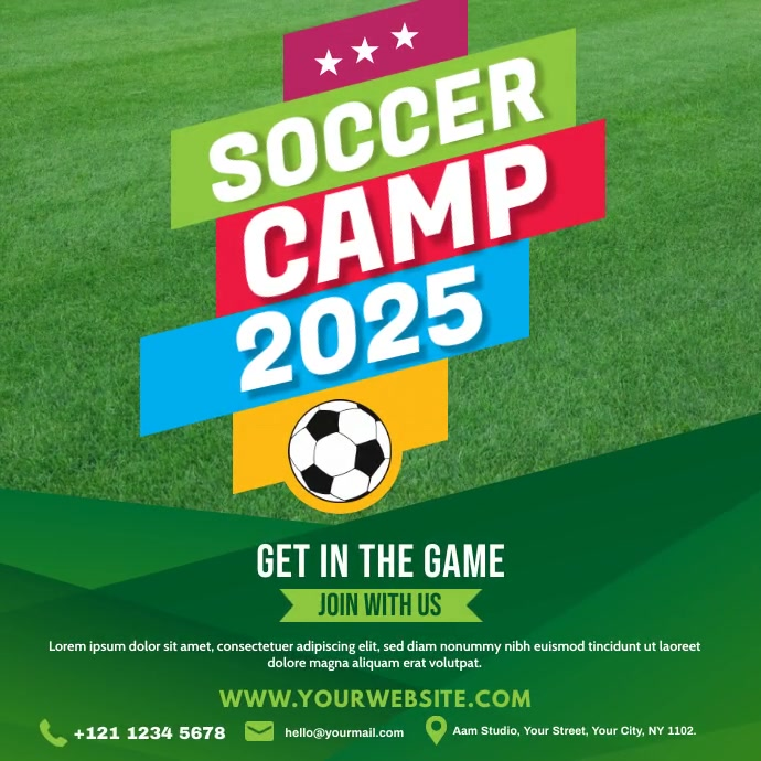 Soccer Camp Ad Instagram Post template
