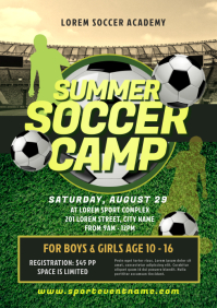 Soccer Camp Flyer A4 template