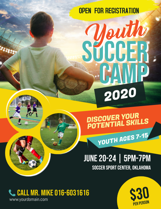 Soccer Camp Flyer Poster Template