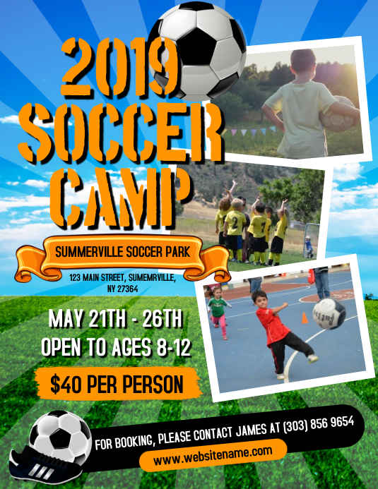 Soccer Camp Flyer