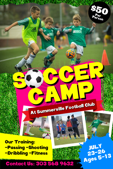 Soccer Camp Poster