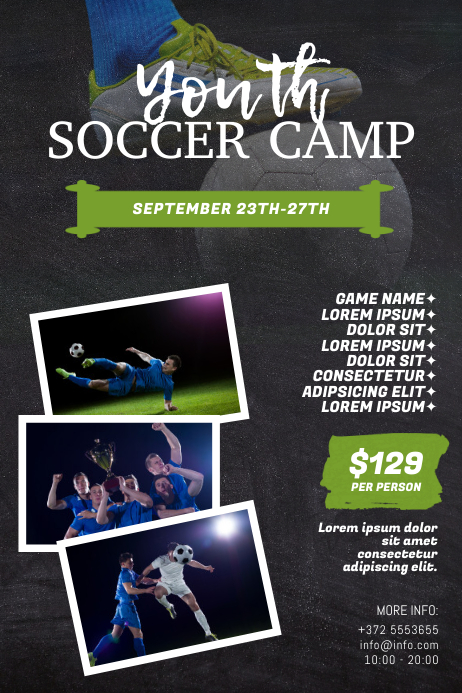 Soccer Camp Flyer Template Poster
