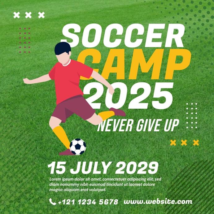 Soccer Camp Instagram Post Instagram-opslag template