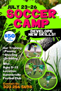 Soccer Camp Poster