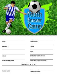 Soccer Camp Registration Flyer