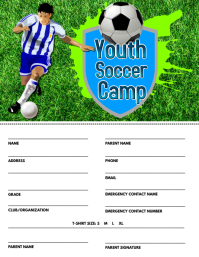 Soccer Camp Registration Flyer
